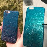 Diy phone case with color changing nail polish | Diy phone case, Diy phone,  Color change nail polish