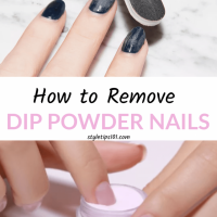 No time to hit the nail salon to remove those dip powder nails? We've got  several ways on how to remove dip powder n… | Powder nails, Dip powder nails,  Dipped nails