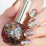 SEA GLASS is a chunky glitter nail polish in a clear base with a myriad of  rainbow colours and sh… | Chunky glitter nails, Nail polish, Glass nails  polish