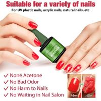 Aliver Magic Nail Polish Remover, 2 Pack Professional Soak Off Gel Nail  Polish Removal, 3-5 Minutes Quick Organic Nail Polish Cleaner Travel Size  Non-Acetone Gift for Nail Art Lovers: Buy Online at