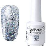 Elite99 Gel Nail Polish Soak Off UV LED Gel Lacquer Nail Art Manicure Glitter  Clear 329 15ml: Buy Online at Best Price in UAE - Amazon.ae