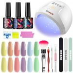 Buy Ziomizi Professional Gel Nail Polish Kit with LED UV Light Therapy Lamp  for Beginners Home and Nail Salon Use Online in Vietnam. B08V4VN1VW