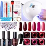 Buy Gellen Gel Nail Polish Kit with UV Light 54W Nail Dryer, 6 Gel Nail  Colors, No Wipe Top Base Coat, Nail Art Decorations, Manicure Tools,  All-In-One Manicure Kit, Glamour Reds Online