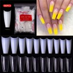Buy Online 500pcs French Ballerina Fake Nail Tips Artificial False Nails  Acrylic Half Tips Clear UV Gel Manicure Tip For Nails Art Salon ▻ Alitools