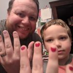 His son was bullied for nail polish. So he painted his nails, too