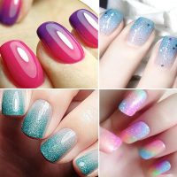 French Ombre with Bluesky Gel Polish   How To Ombre Gel Polish   Gelnailsuk