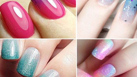 French Ombre with Bluesky Gel Polish | How To Ombre Gel Polish | Gelnailsuk