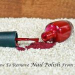 How To Remove Nail Polish From A Couch? [2021] - NousDecor