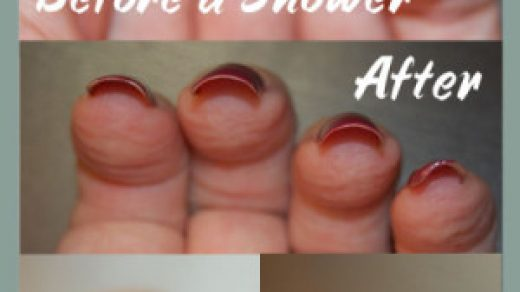 Chipped Nail Polish From The Shower? - Bliss Kiss