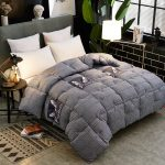 Buy Winter Thick Blanket Quilt Air Condition Printing Comforter Duvet  Double King Bedspread Bed Cover Grey Beige Bedding   Cicig