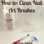 How to: Clean Nail Art Brushes …   Clean nails, Nail brushes, Nail art  brushes