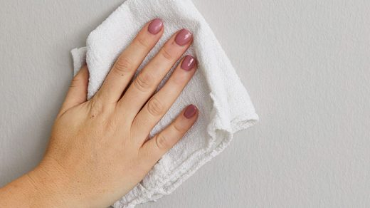 How to get nail polish off walls and have clean walls again