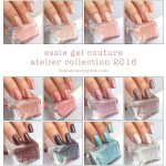 ESSIE GEL COUTURE LAUNCH COLLECTION: ALL 42 SWATCHES & REVIEW | Essie gel, Essie  gel couture swatches, Essie gel couture