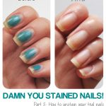 Damn You Stained Nails! Pt 2: How to remove stains   Lab Muffin Beauty  Science