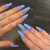 What Color Nail Polish with Royal Blue Dress | Blue acrylic nails, Long  acrylic nail designs, Blue nails