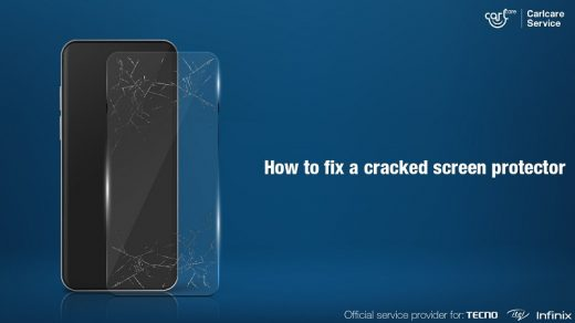 How to fix a cracked screen protector