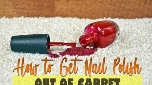 How to Get Nail Polish Out of Carpet Fast and Easy