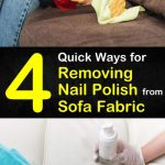 4 Quick Ways for Removing Nail Polish from Sofa Fabric