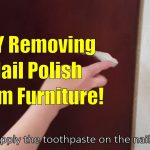 Need suggestions for the finish on a dining room table. Wife spilled nail  polish remover.: fixit