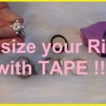 How to resize / make a ring fit smaller using tape - Extra Petite