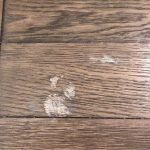 How to repair wood table with nail polish remover stain | Hometalk