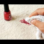 How to clean up after a nail varnish remover spill on carpet.